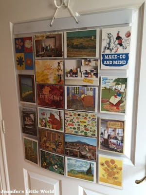 Postcards in a display