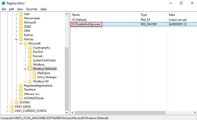 Tắt diệt virus Windows Defender Win 10 hoàn toàn