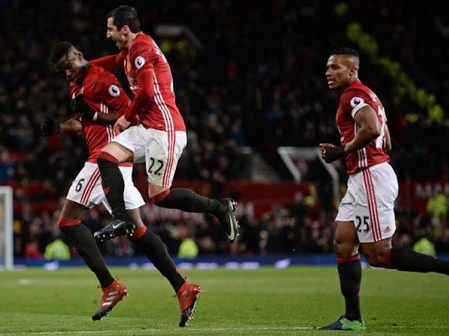 Paul Pogba scored the winning goal for Manchester United.