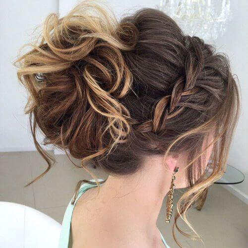 curled ,new style, prides-maid ,updos for long hair