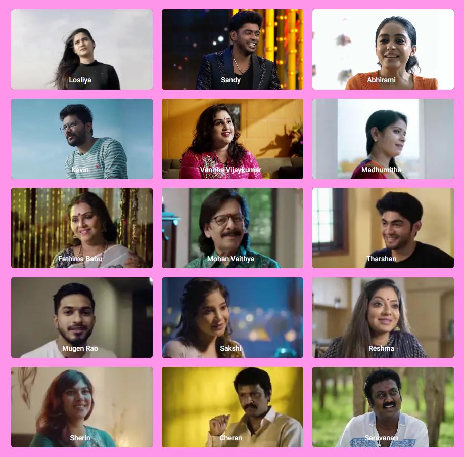 Bigg Boss 3 Tamil Contestants Name List With Photo 2019 Season