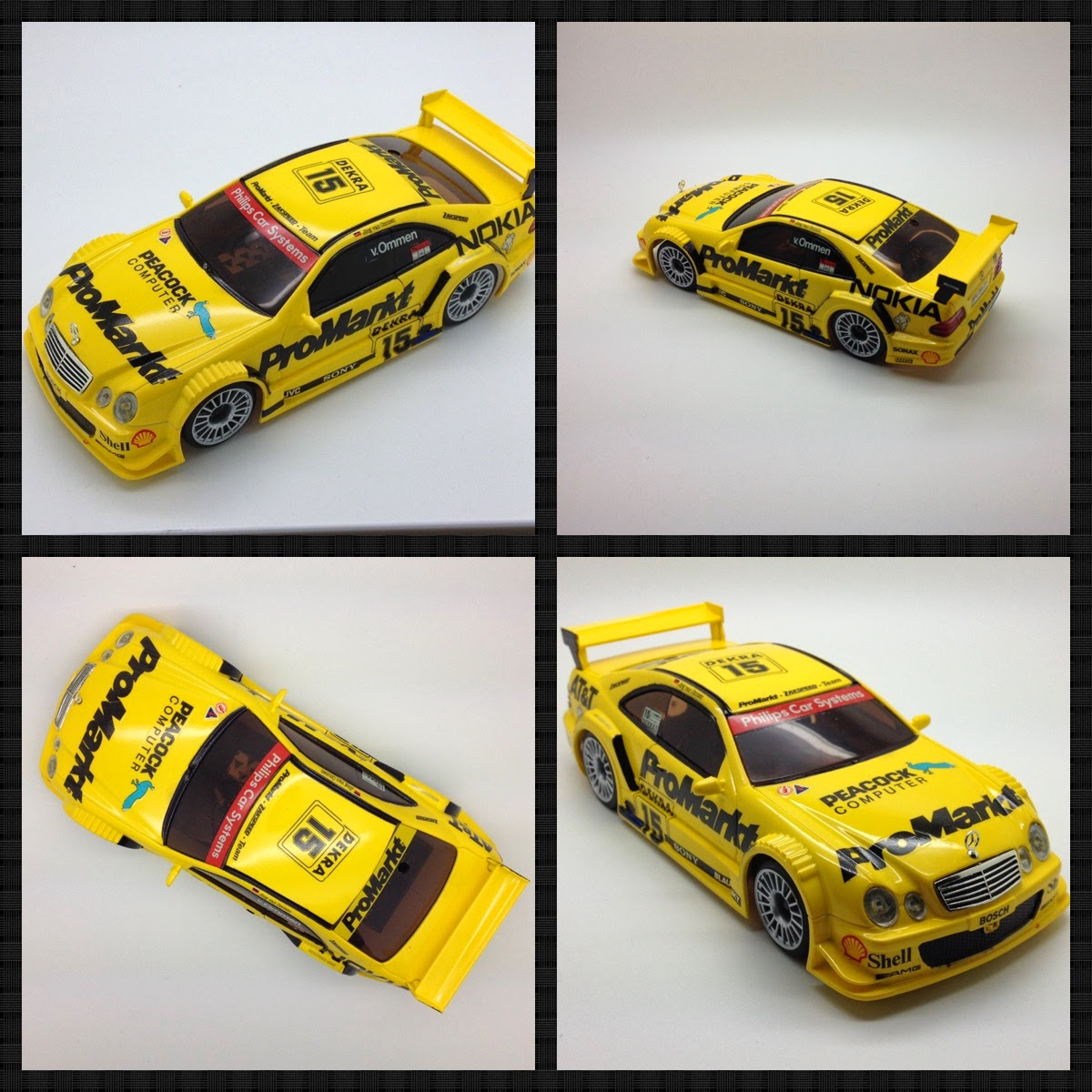 Kyoshosan My Custom Painted Mini Z Amg Mercedes Dtm Promarkt Pn Racing V2 Rc Printed Circuit Board Assembly Mr03 Setting
