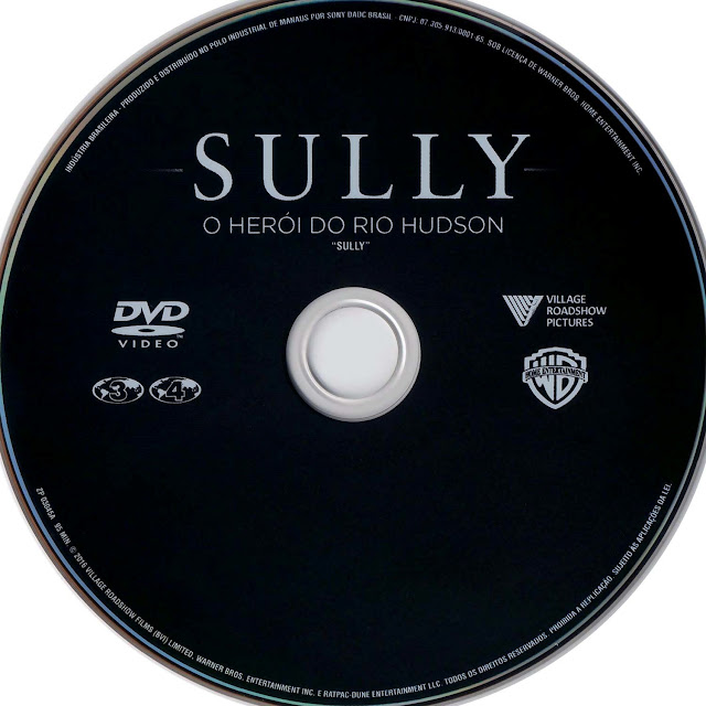 Label DVD Sully O Herói do Rio Hudson