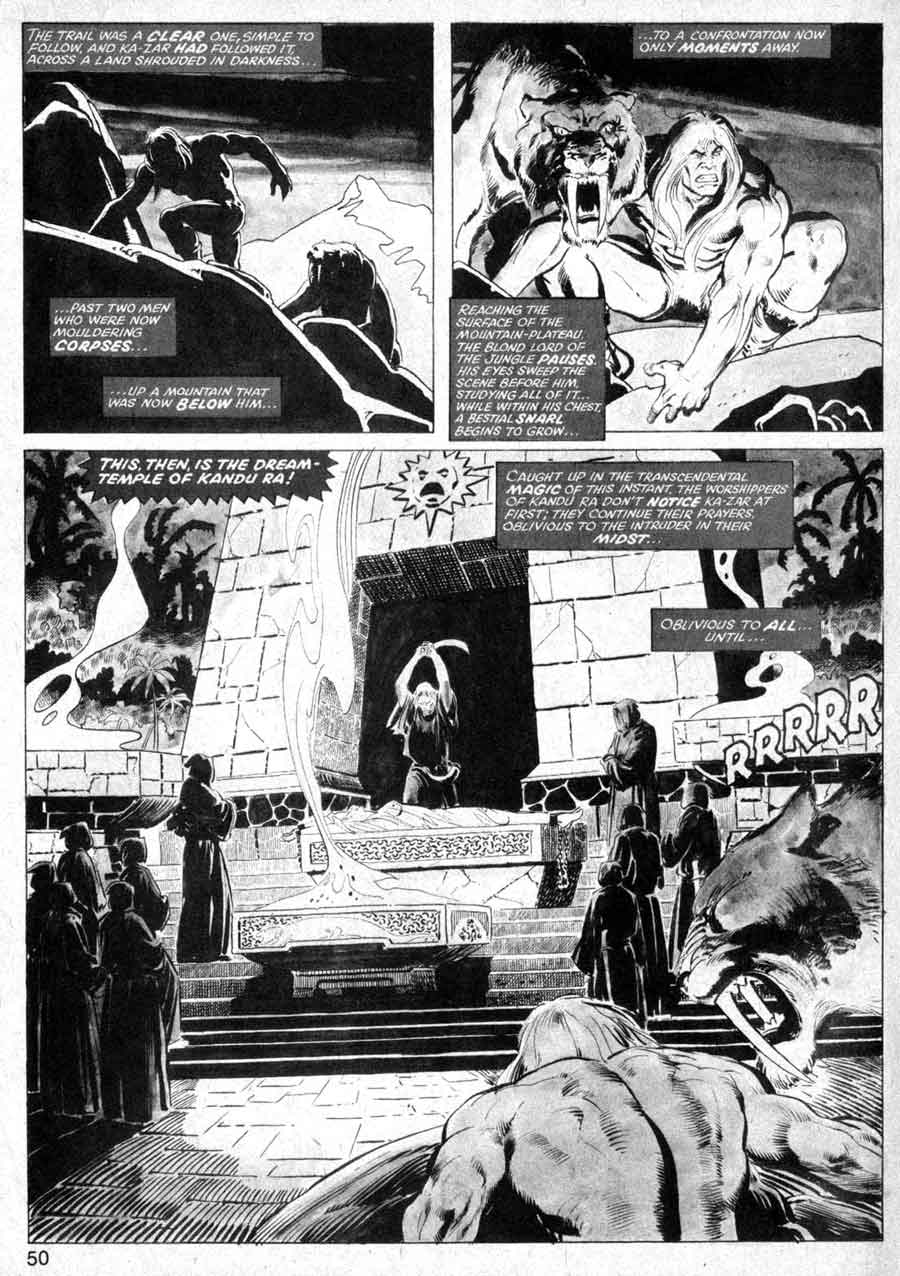 Savage Tales v1 #7 conan marvel comic book page art by Neal Adams