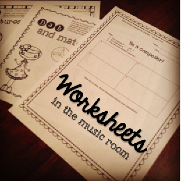 Worksheets in the music room: Different ways to use worksheets in your music lessons to practice musical concepts and reflect!