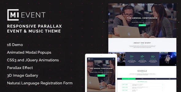 Responsive Event & Music Theme