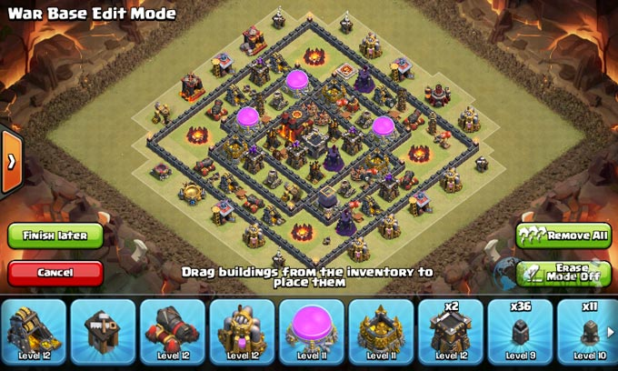 Susunan Formasi Base War TH 8 Update Terbaru 11