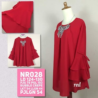 Blouse Jumbo Big Size Nafstyle NR028