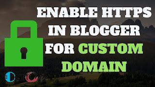 Https blogger with custom domain