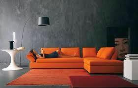 decoración sala naranja gris