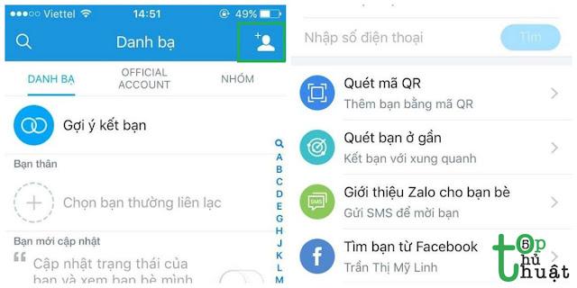 Top 5 cách tìm bạn trên Zalo cho iPhone