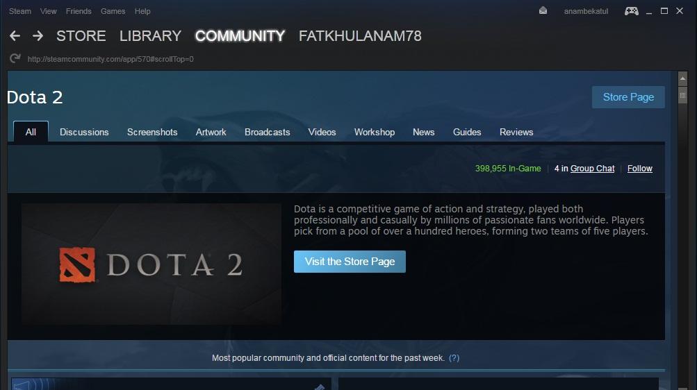 Cara Download Steam dan Install Dota 2