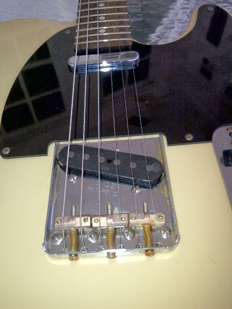 "Scale Length: 25.5"" Width at Nut: 1.650"" Nut Material: Corian rather than  Bone Frets: Dunlop 6105. Pickups: Fender Custom Shop Twisted Tele Neck, ..."