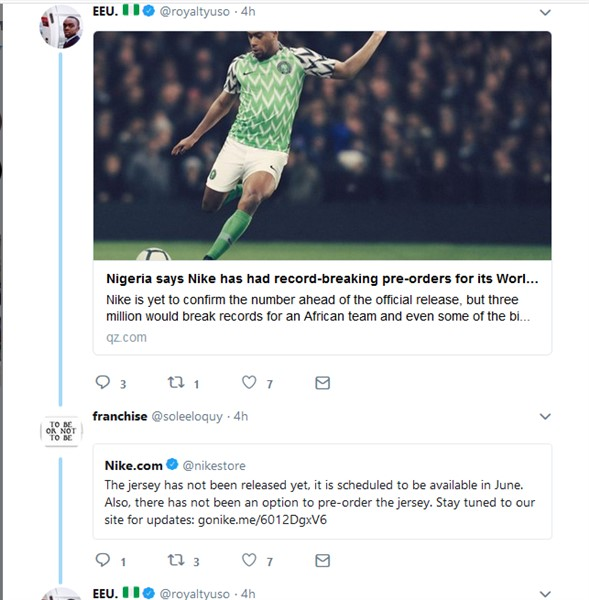 "Nike gave Nigeria ""NFF"" $1m, made over $300m from Super Eagles Jersey Sales (Nigerians React)"