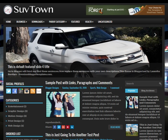 SuvTown Blogger Template