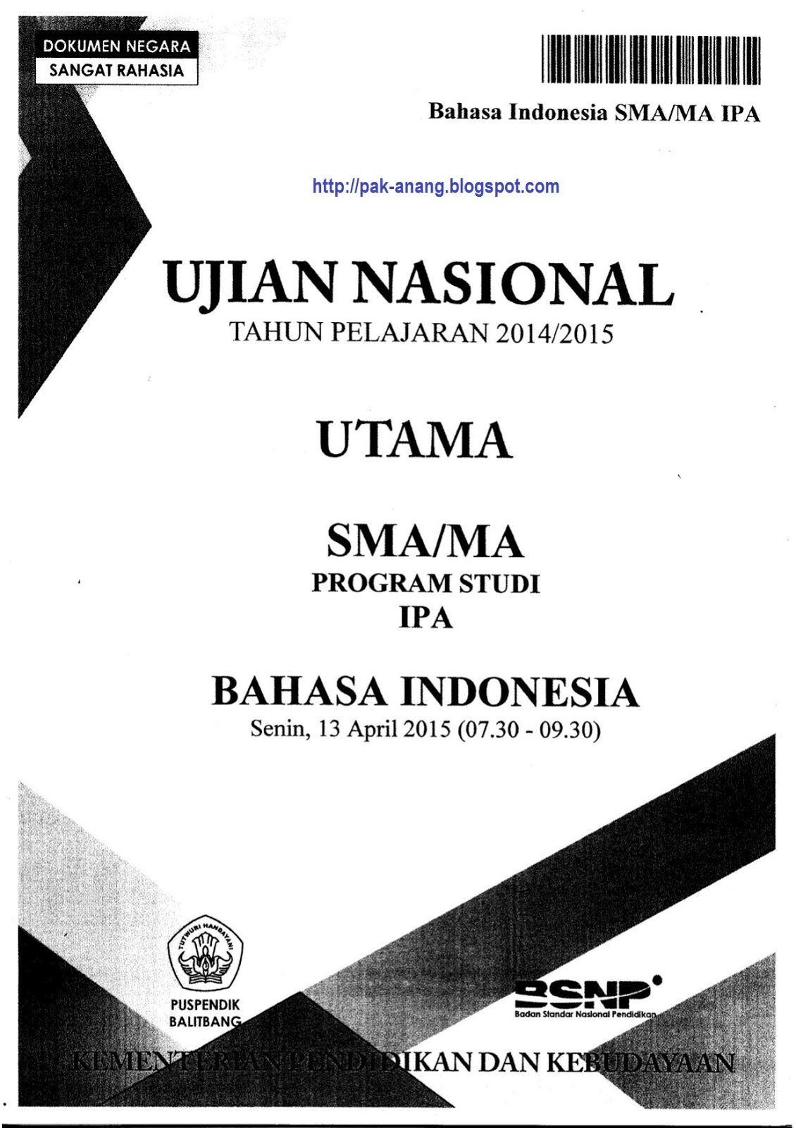 Pembahasan Soal Un Bahasa Indonesia Sma 2019