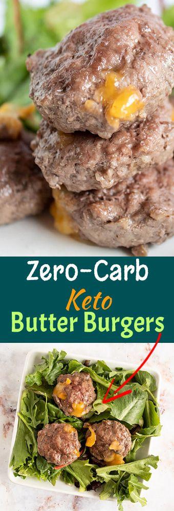 ero-Carb Keto Butter Burgers (Savory Fat Bomb)