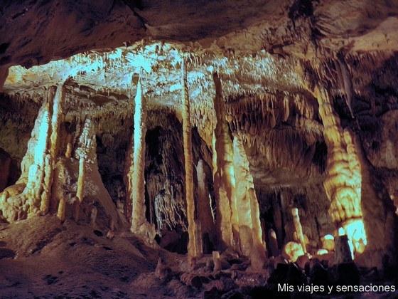 Las grutas de Han-sur-Lesse, Valonia, Bélgica
