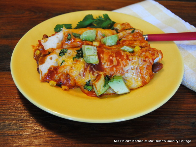 Green Chili Vegetable Enchiladas at Miz Helen's Country Cottage