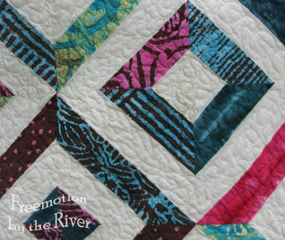 Closeup of quilting