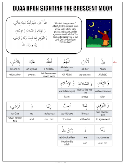 Duaa for Sighting Crescent Moon