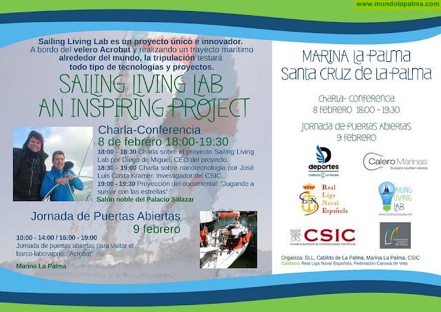 La Palma será punto de parada del proyecto 'Sailing Living Lab' de investigación tecnológica de navegación en alta mar