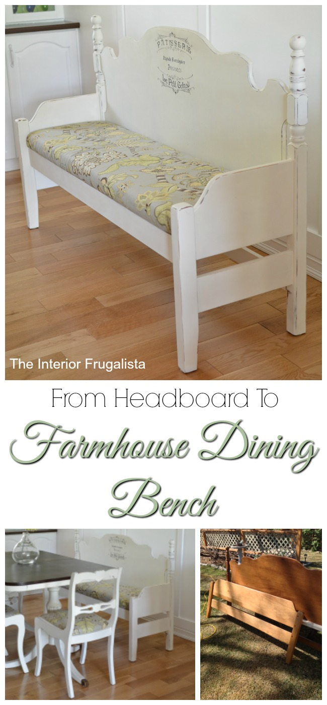 Foot and Headboard Repurposed into dining bench