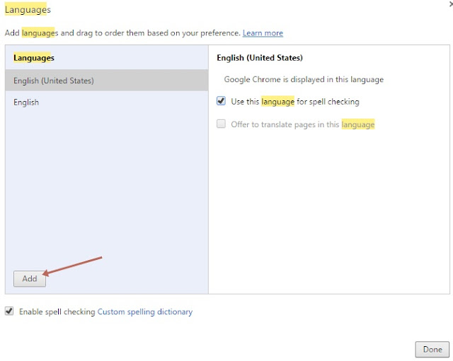 Menggunakan Spell Checking Bahasa Indonesia di Google Chrome