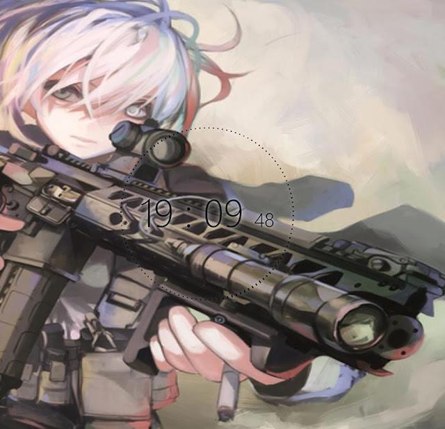 Anime Military Girl Wallpaper Engine