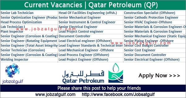 Current Vacancies At Qatar Petroleum Qp Jobzatgulf Com
