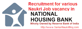 Naukri Vacancy Recruitment National Housing Bank