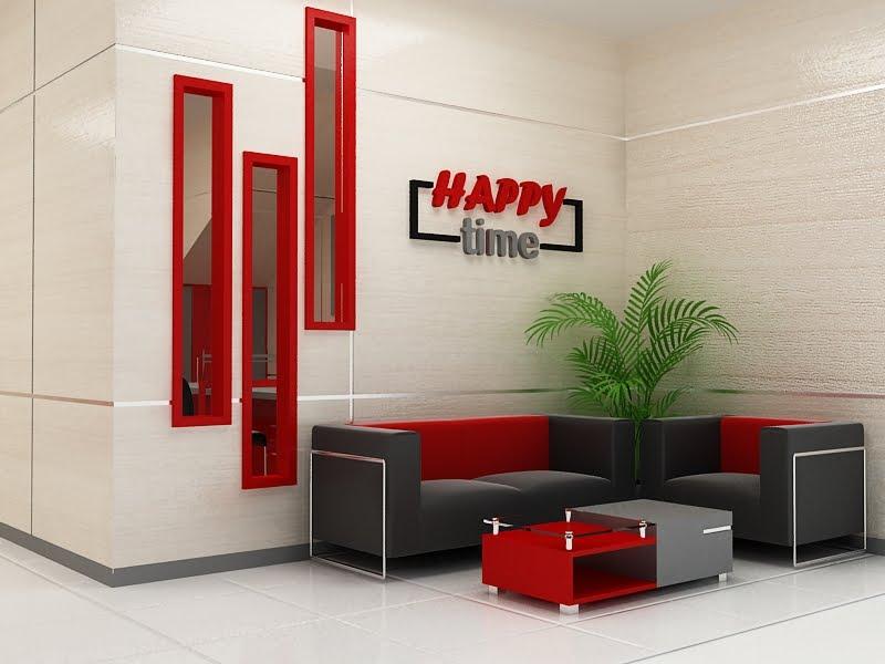 desain interior ruang lobby amp resepsionis kantor metro