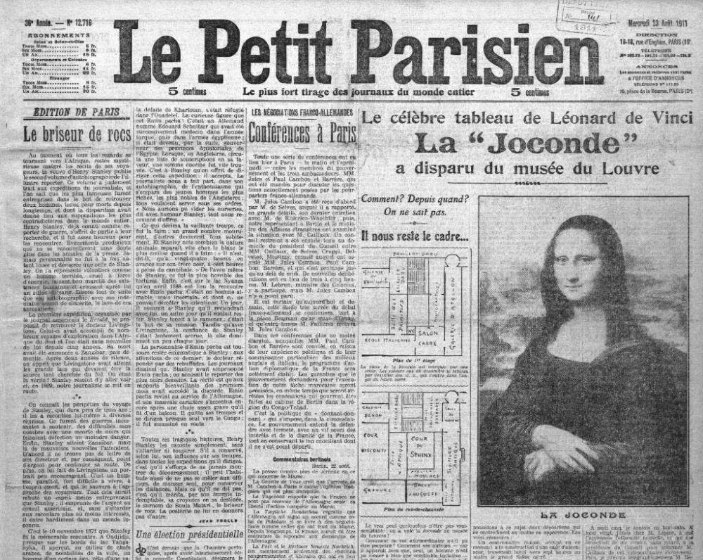 Image result for la petit parisien mona lisa