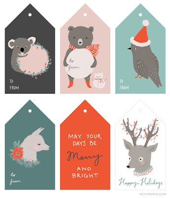 Christmas gift tag Etiqueta Navidad Petit Pippin