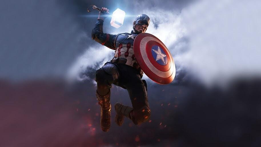 Captain America, Mjolnir, Hammer, Shield, Avengers Endgame ...