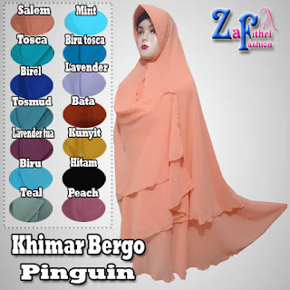 Khimar Syar'i Instan Jumbo Pet Model Pinguin