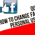 How to Change My Username On Facebook