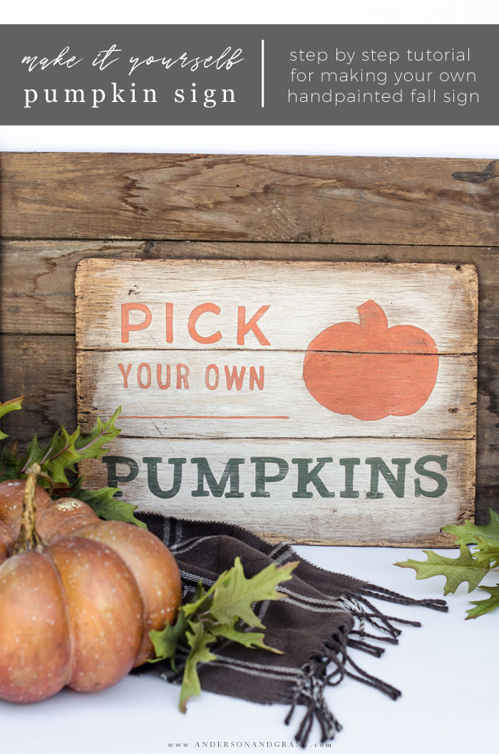 Make it yourself Pumpkin Sign