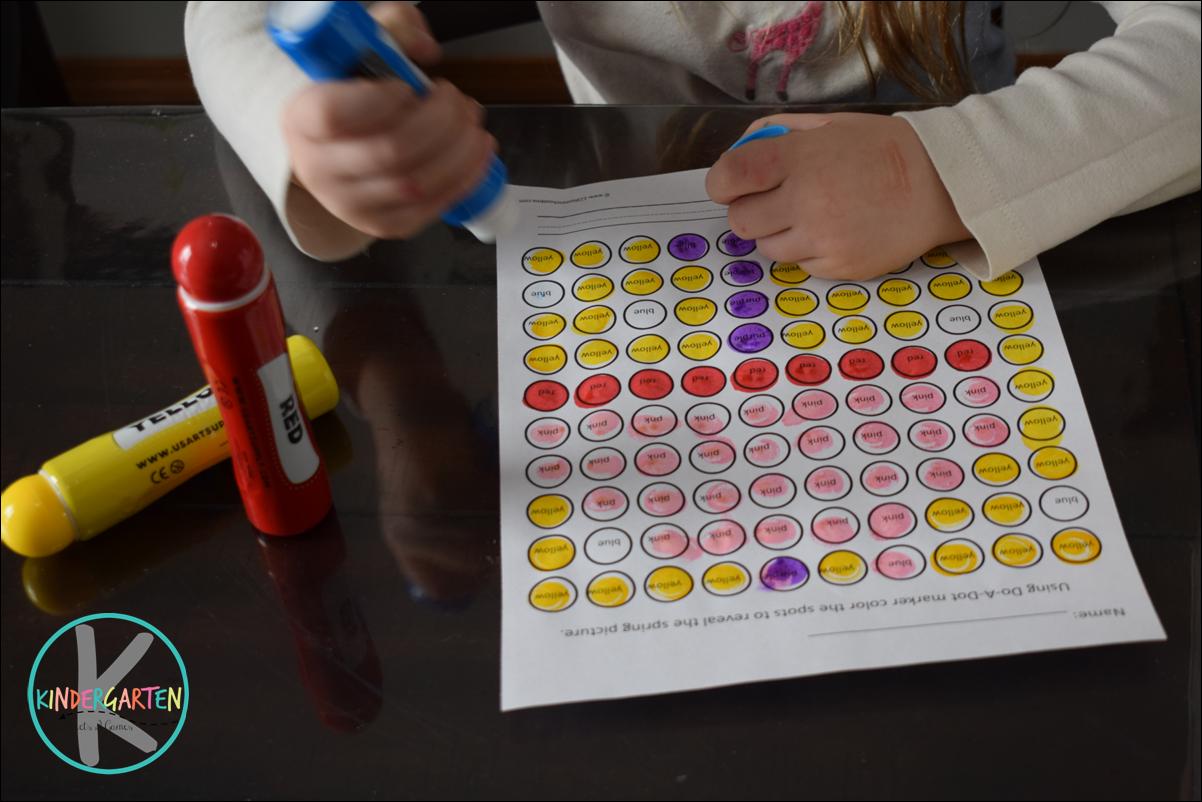 Kindergarten Worksheets And Games Free Spring Bingo