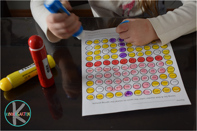 sprint worksheets for kindergarten and first grade to help them learn color words with a fun activity