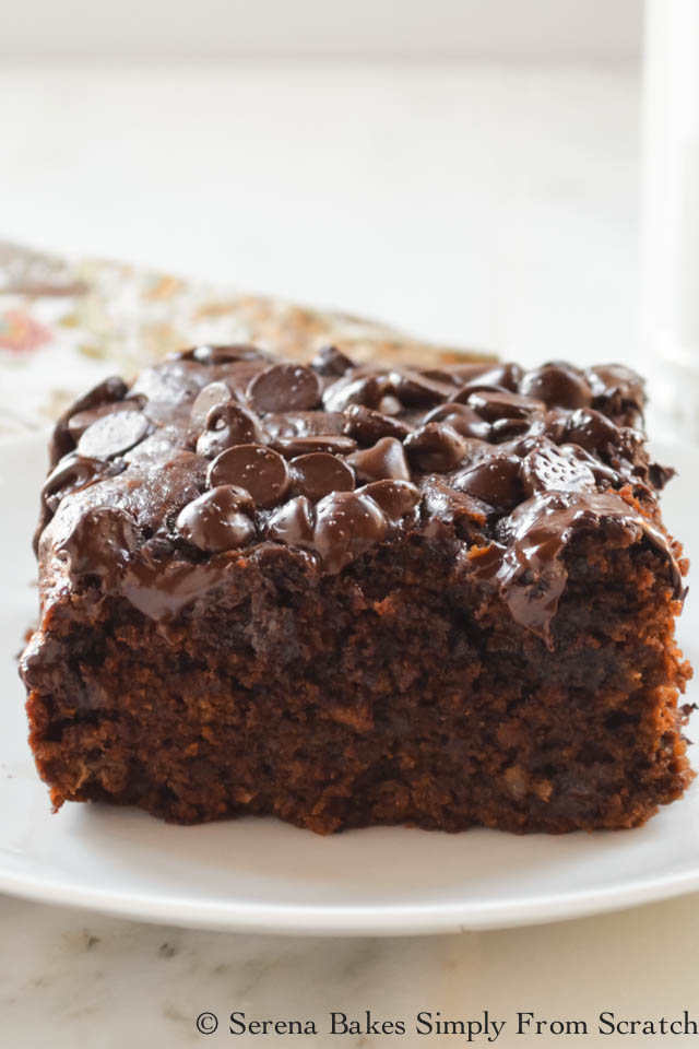 Eggless Chocolate Banana Monkey Snack Cake Recipe from Serena Bakes Simply From Scratch