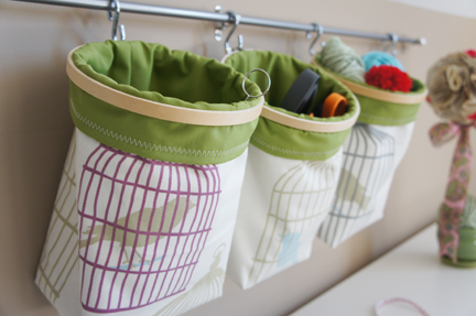 Embroidery hoop storage bags
