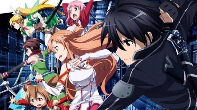 Sword Art Online - Anime Tokoh Utama Menggunakan Pedang
