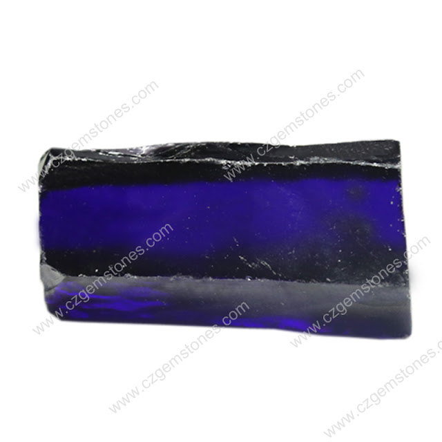 synthetic rough gemstone violet