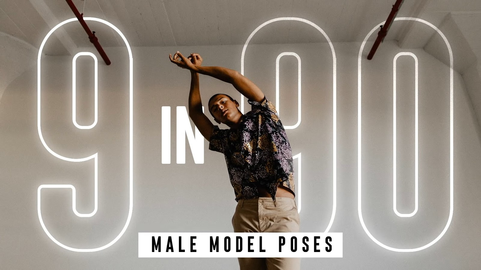 9 Unique Male Model Poses in 90 Seconds