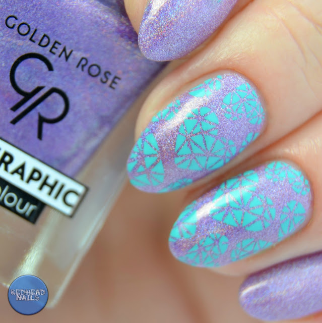 Golden Rose holo swatch