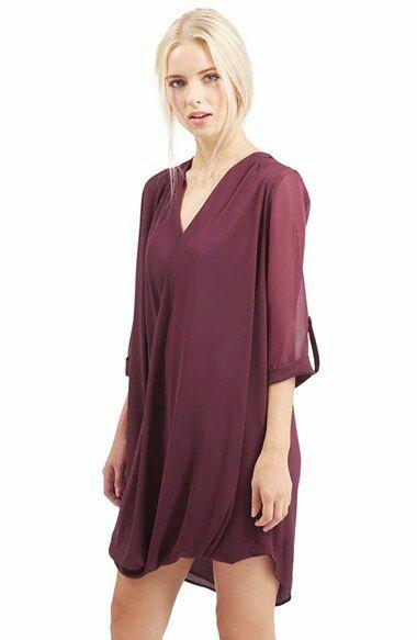Chiffon tunic dress