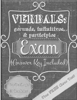 https://www.teacherspayteachers.com/Product/Verbals-Exam-Gerunds-Infinitives-Participles-with-Answer-Key-1167253