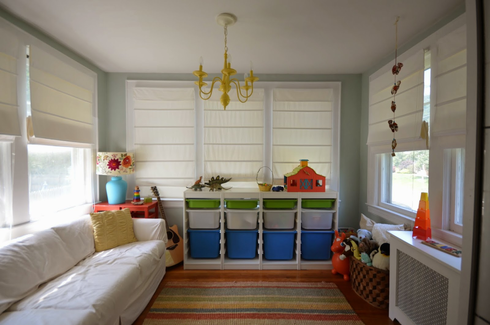 Playroom: In The Little Yellow House: Then & Now: Sunroom To Playroom
