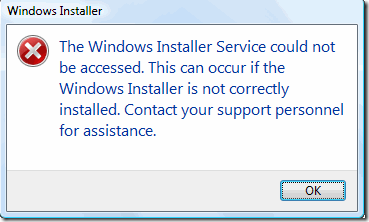 The Windows Installer service could not be accessed Contact your support personnel Solved ( tunesmk )